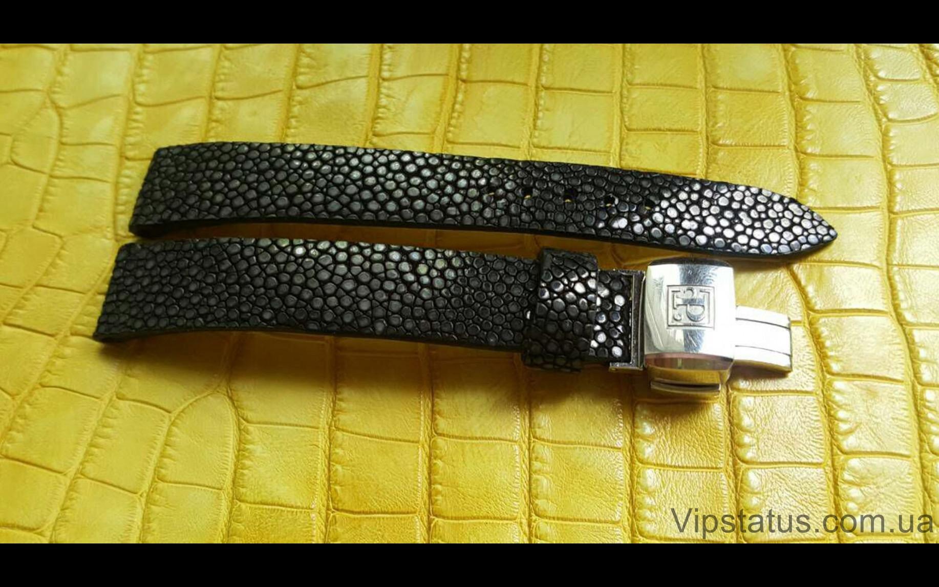 Elite Люксовый ремешок для часов Black Glitter кожа ската Black Glitter Luxury Stingray Leather Strap image 1