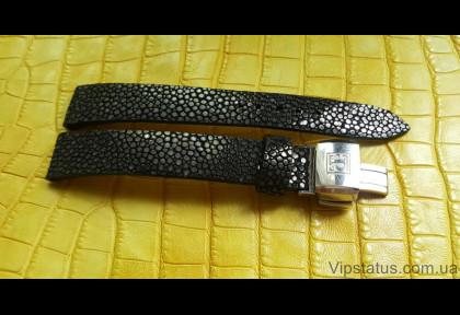 Люксовый ремешок для часов Black Glitter кожа ската изображение