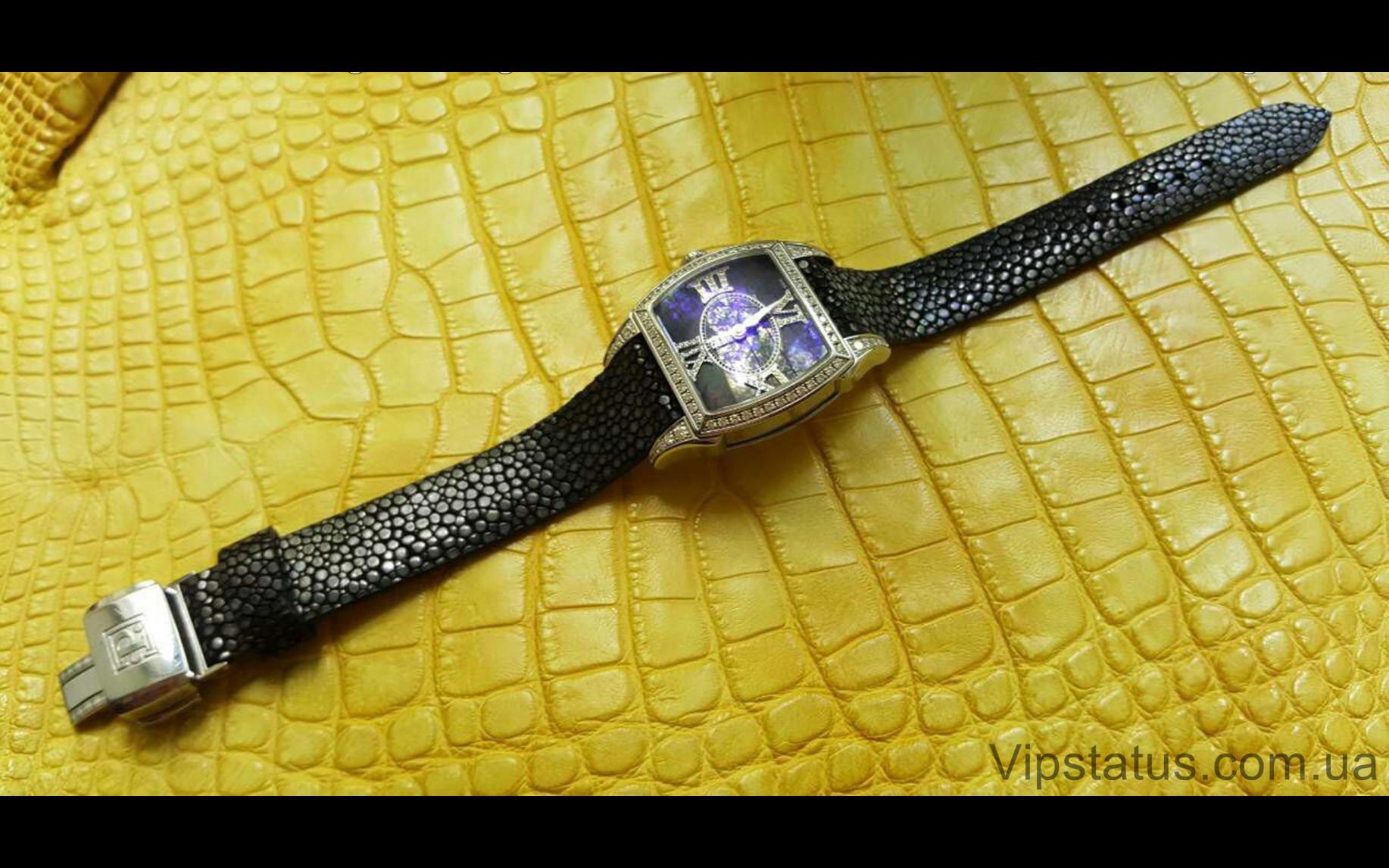 Elite Люксовый ремешок для часов Black Glitter кожа ската Black Glitter Luxury Stingray Leather Strap image 2