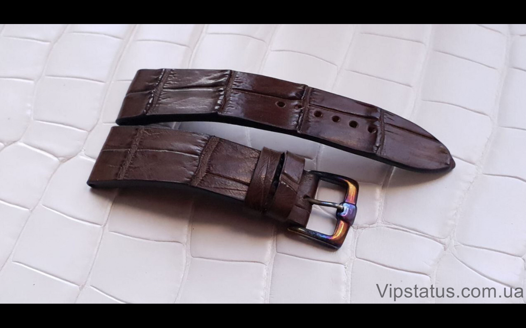 Elite Вип ремешок для часов Bovet кожа крокодила Vip Crocodile Strap for Bovet watches image 4