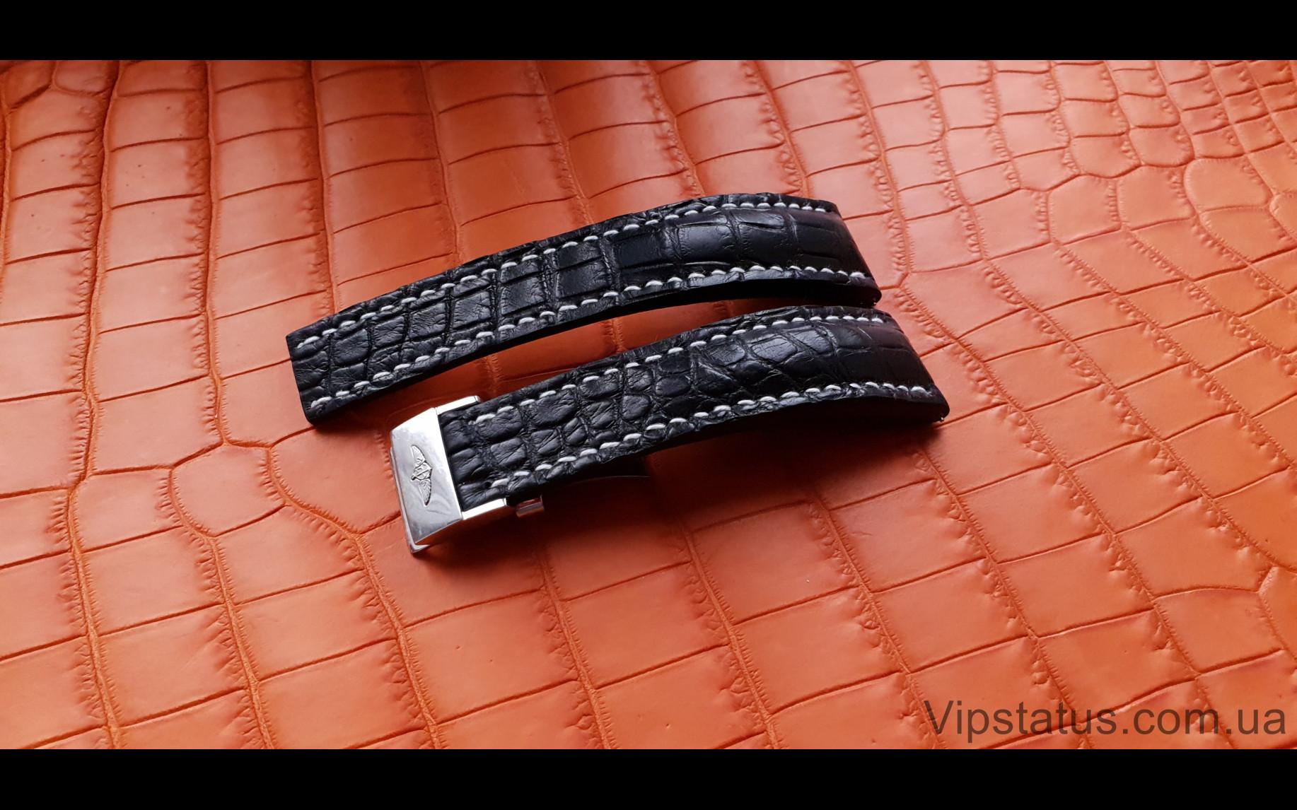 Elite Элитный ремешок для часов Breitling кожа крокодила Elite Crocodile Strap for Breitling watches image 2