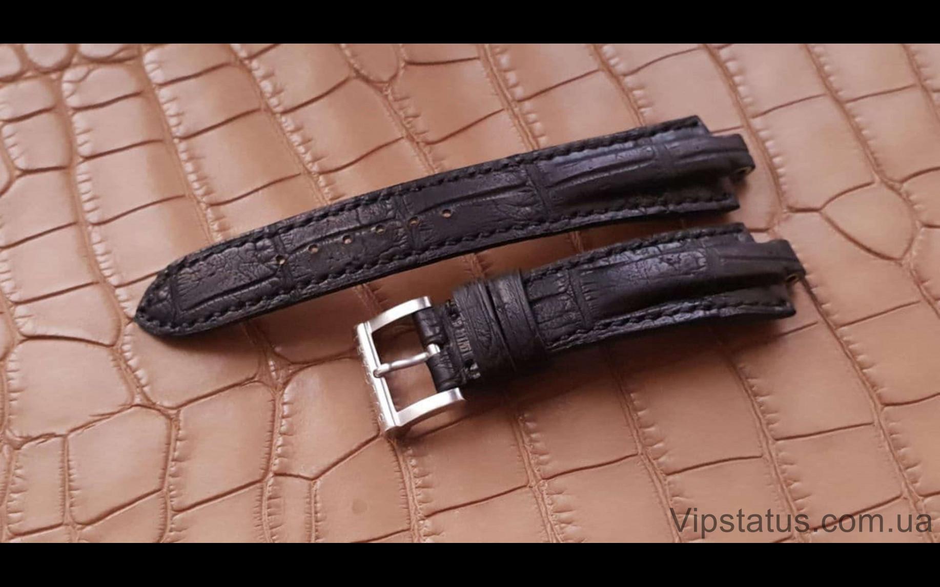 Элитный Эксклюзивный ремешок для часов Bvlgari Black кожа крокодила Элитный ремешок для часов Bvlgari из кожи крокодила изображение 1