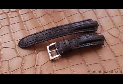 Эксклюзивный ремешок для часов Bvlgari Black кожа крокодила изображение