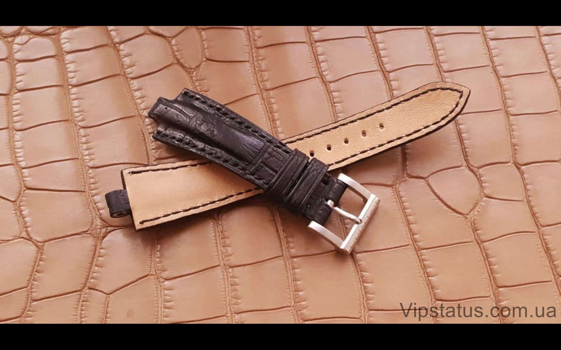 Элитный Эксклюзивный ремешок для часов Bvlgari Black кожа крокодила Элитный ремешок для часов Bvlgari из кожи крокодила изображение 3