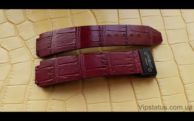 Elite Премиум ремешок для часов Hublot кожа крокодила Premium Crocodile Strap for Hublot watches image 1