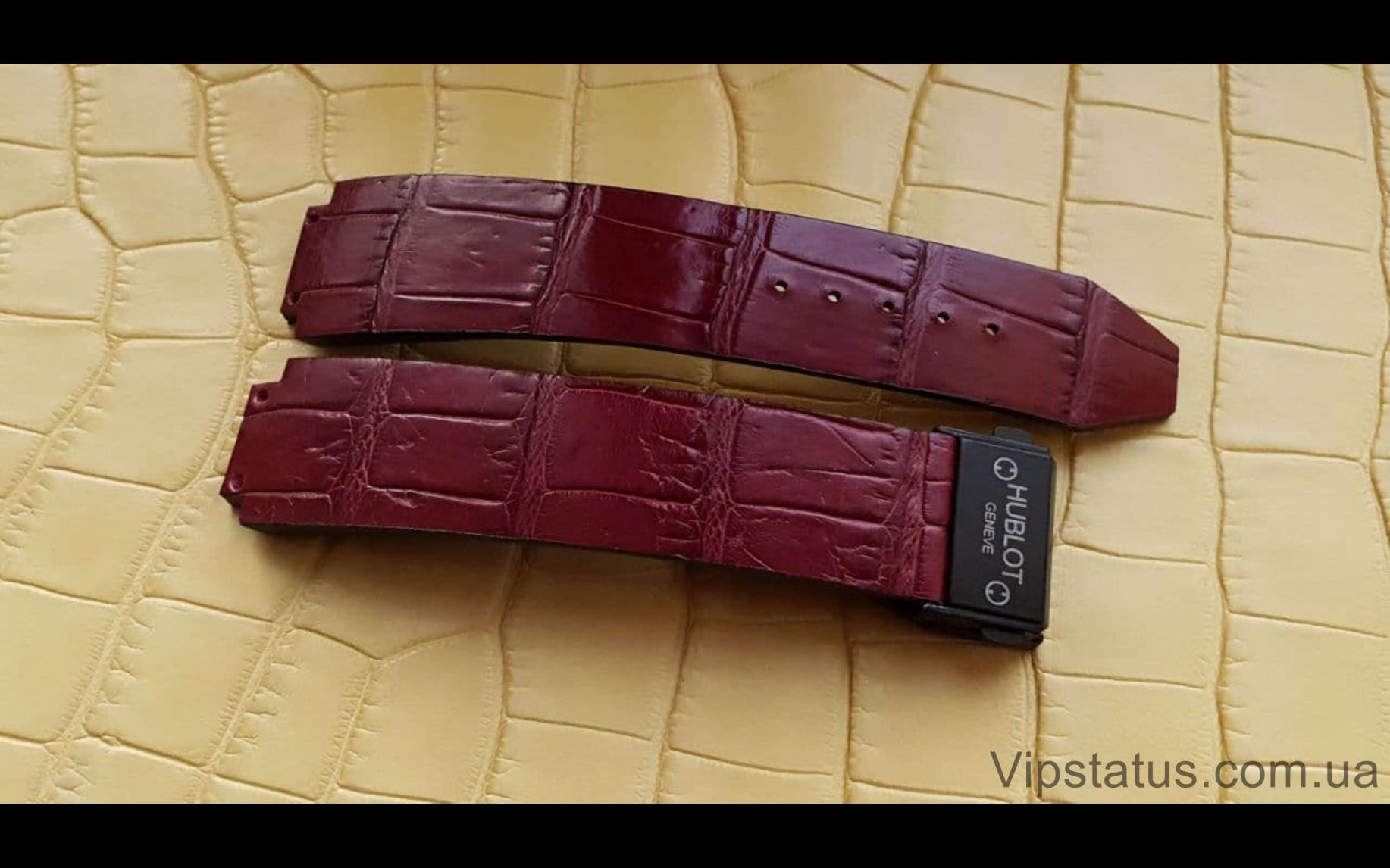 Elite Премиум ремешок для часов Hublot кожа крокодила Premium Crocodile Strap for Hublot watches image 2
