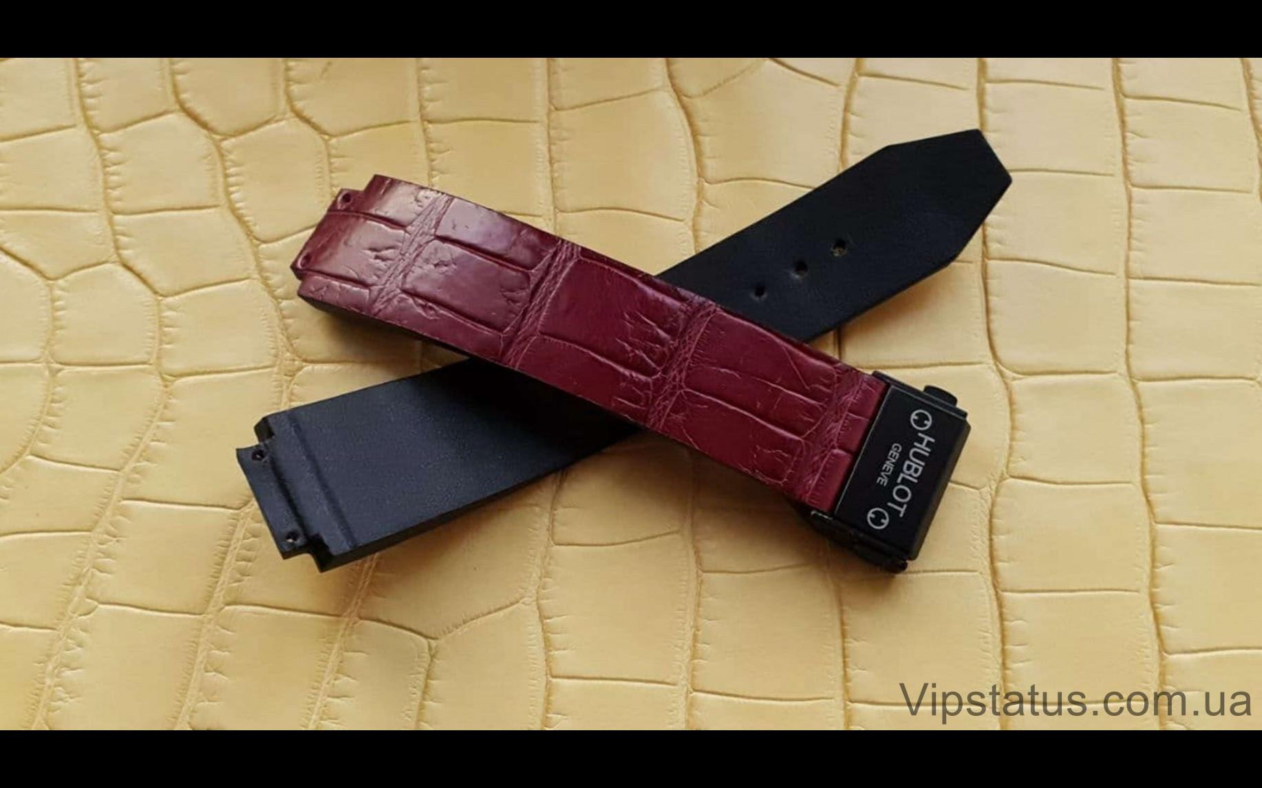 Elite Премиум ремешок для часов Hublot кожа крокодила Premium Crocodile Strap for Hublot watches image 3