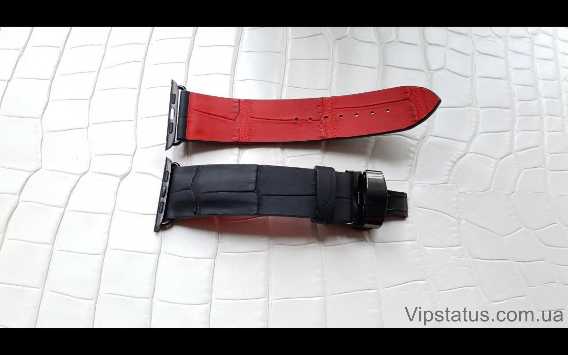 Elite Премиум ремешок для часов Montblanc кожа крокодила Premium Crocodile Strap for Montblanc watches image 2