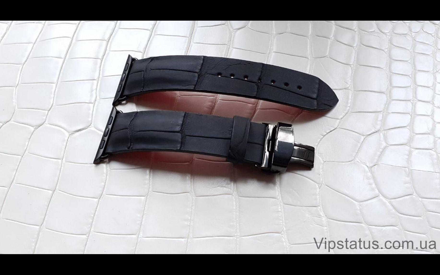 Elite Премиум ремешок для часов Montblanc кожа крокодила Premium Crocodile Strap for Montblanc watches image 3