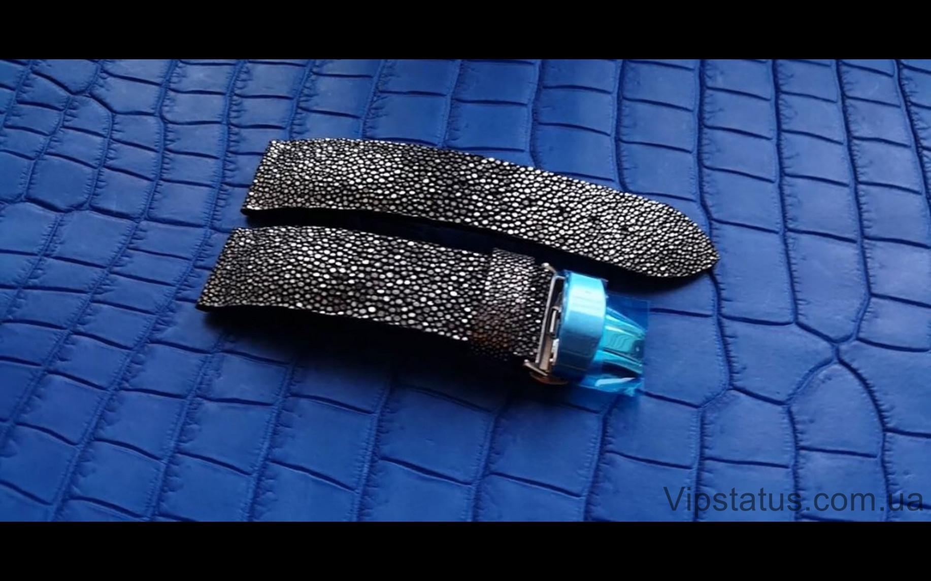 Элитный Лакшери ремешок для часов Silver Metallic кожа ската Эксклюзивный ремешок для часов Silver Metallic из кожи ската  изображение 1