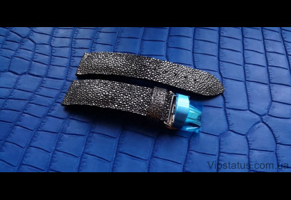 Silver Metallic Luxury Stingray Leather Strap image