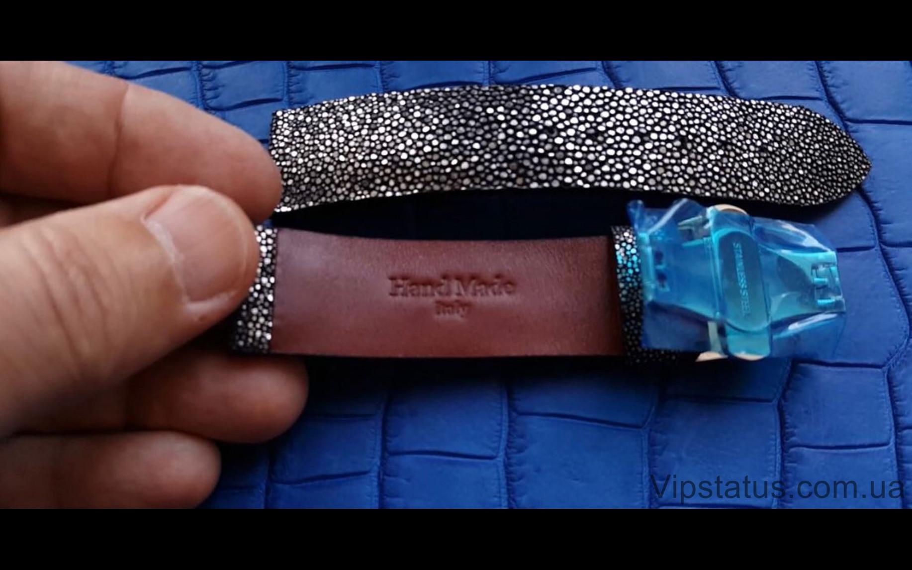 Элитный Лакшери ремешок для часов Silver Metallic кожа ската Эксклюзивный ремешок для часов Silver Metallic из кожи ската  изображение 2