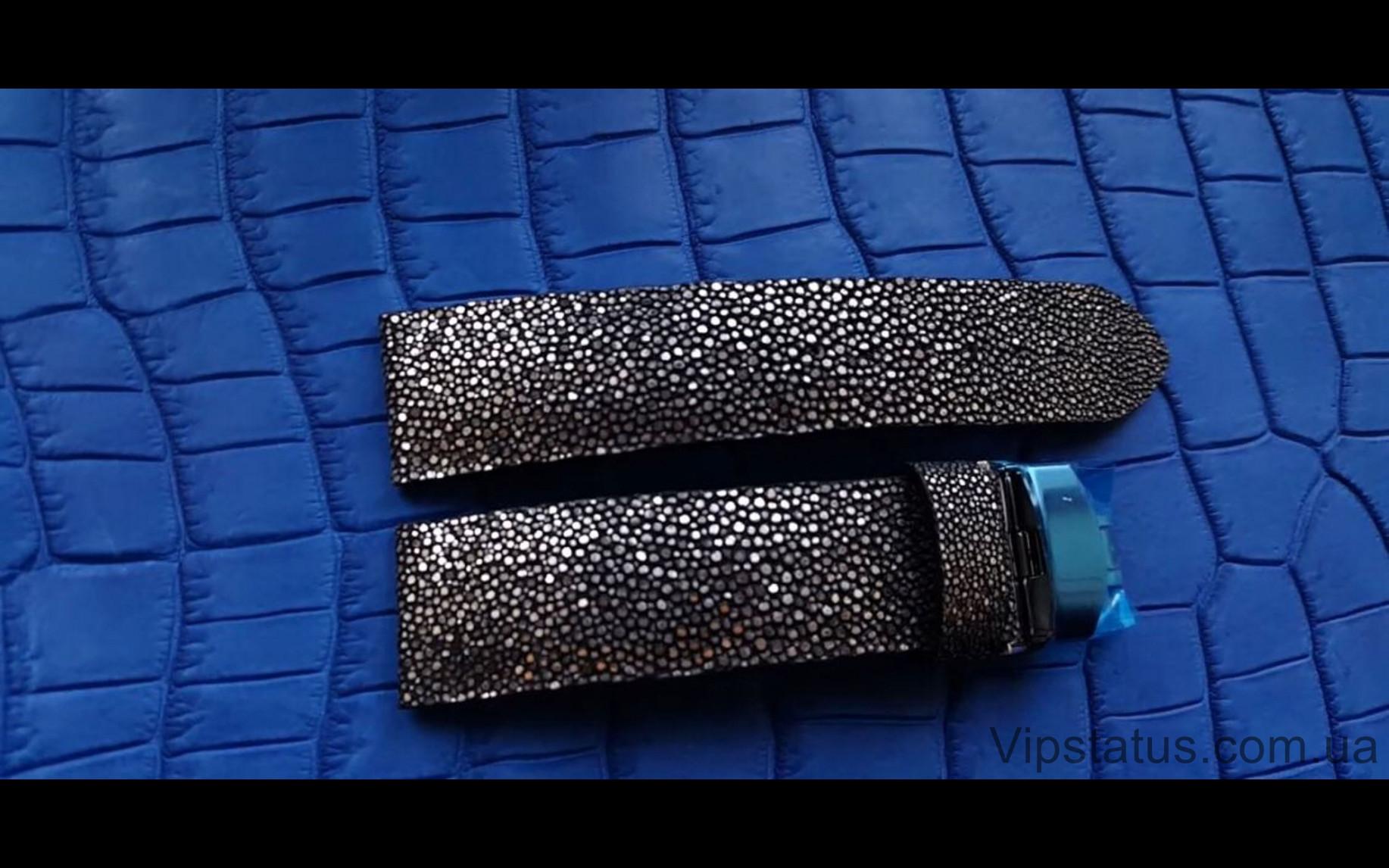 Элитный Лакшери ремешок для часов Silver Metallic кожа ската Эксклюзивный ремешок для часов Silver Metallic из кожи ската  изображение 3