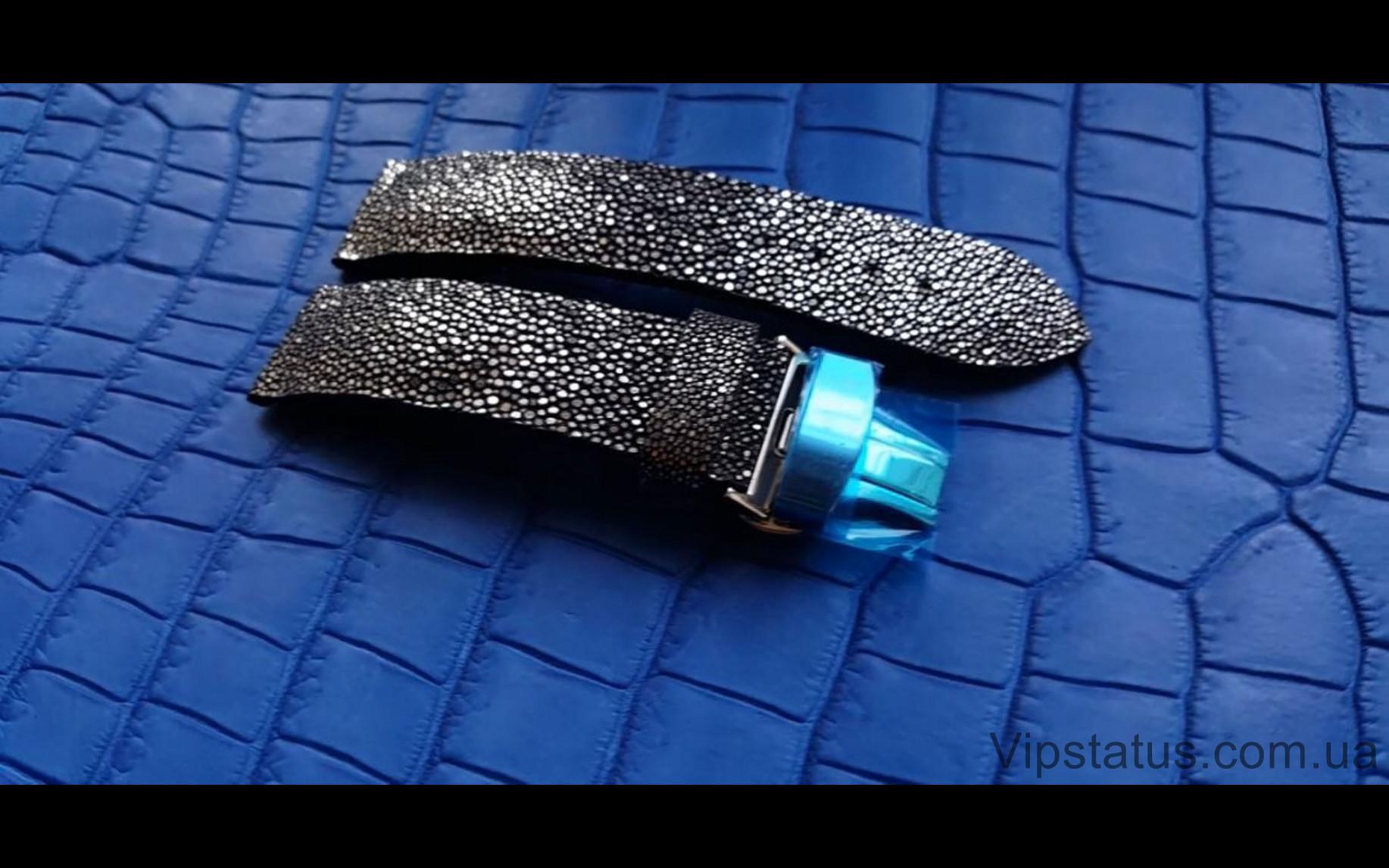 Элитный Лакшери ремешок для часов Silver Metallic кожа ската Эксклюзивный ремешок для часов Silver Metallic из кожи ската  изображение 4