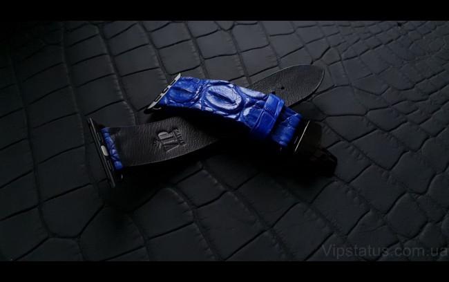 Elite Элитный ремешок для часов Blue King кожа крокодила Blue King Elite Crocodile Strap image 1