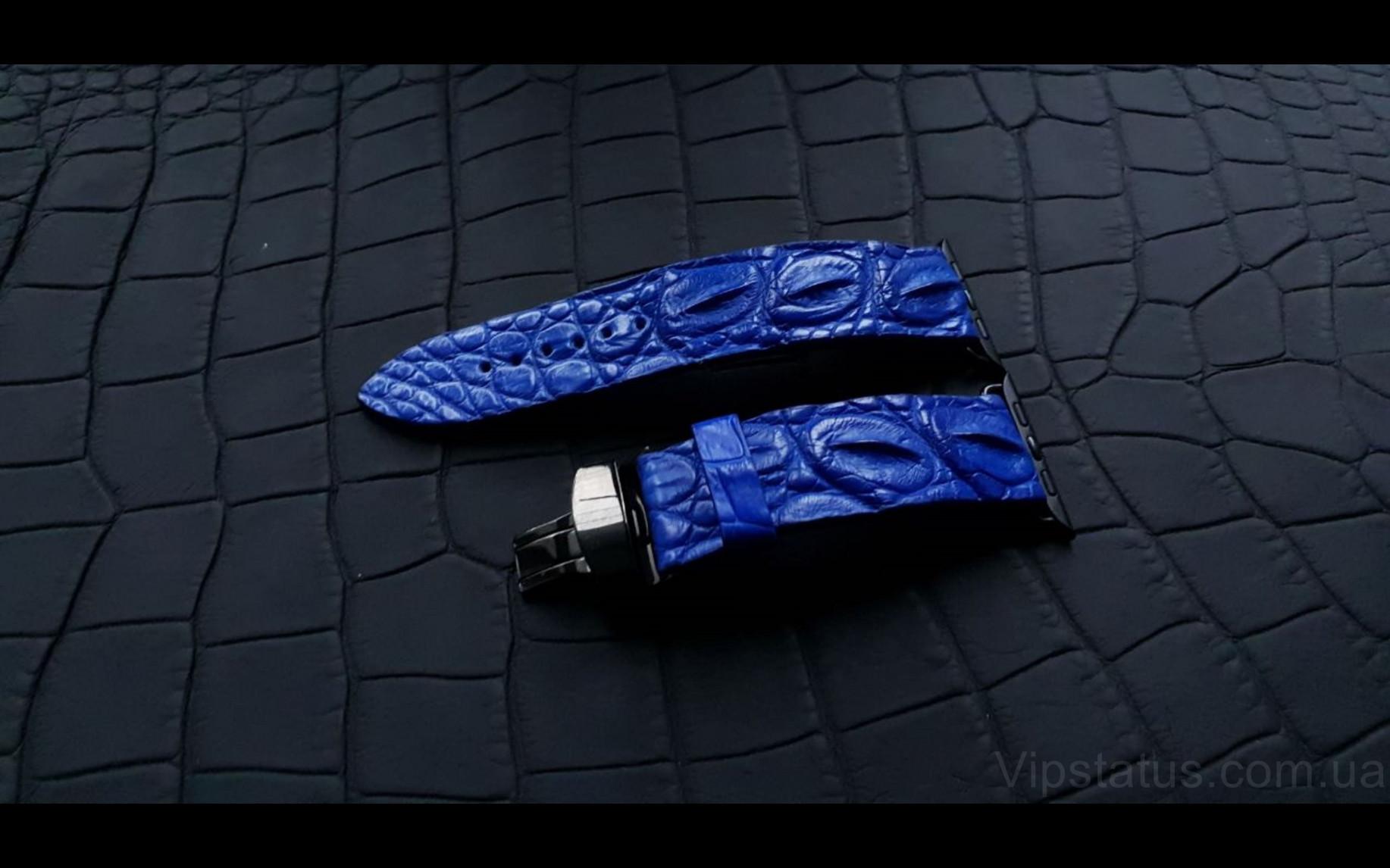 Elite Элитный ремешок для часов Blue King кожа крокодила Blue King Elite Crocodile Strap image 2