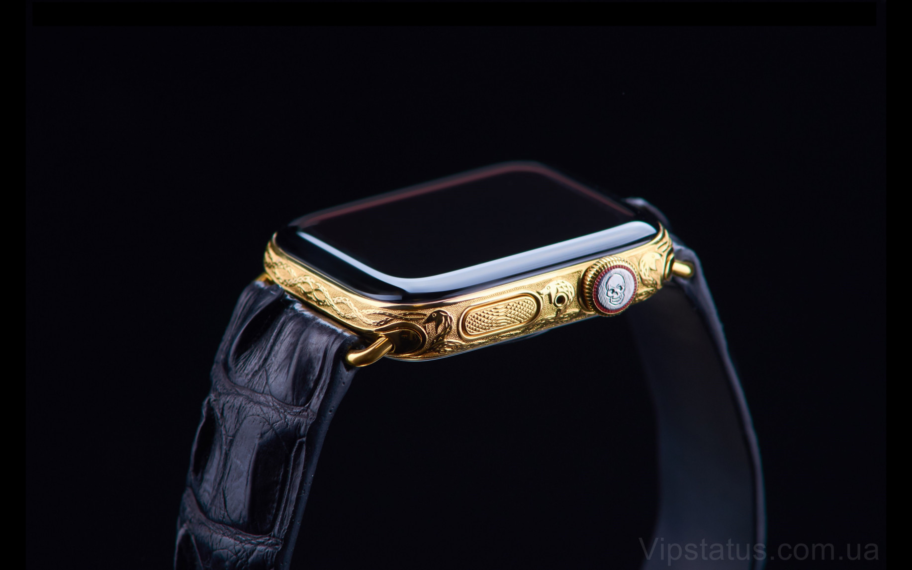 Элитный Skull 666 Gold Apple Watch 5 Skull 666 Gold Apple Watch 5 Sapphire изображение 4