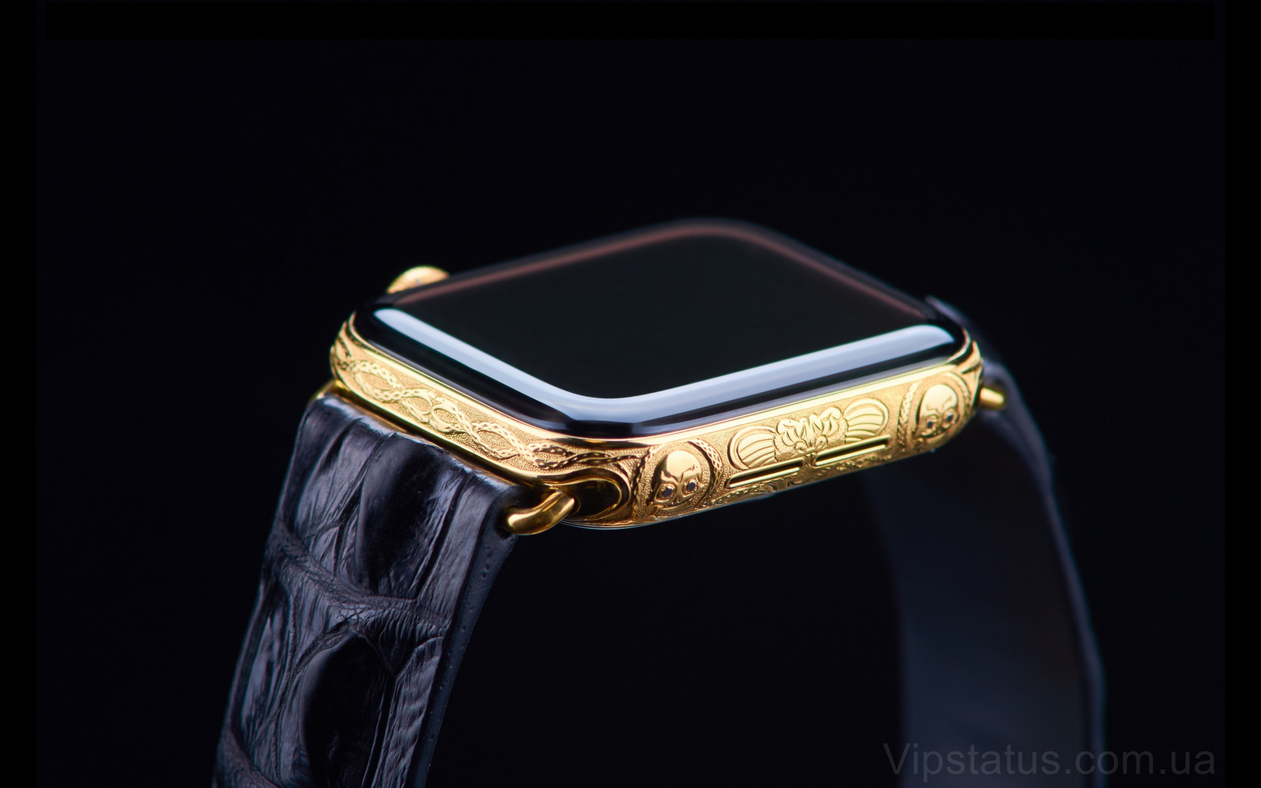 Элитный Skull 666 Gold Apple Watch 5 Skull 666 Gold Apple Watch 5 Sapphire изображение 5