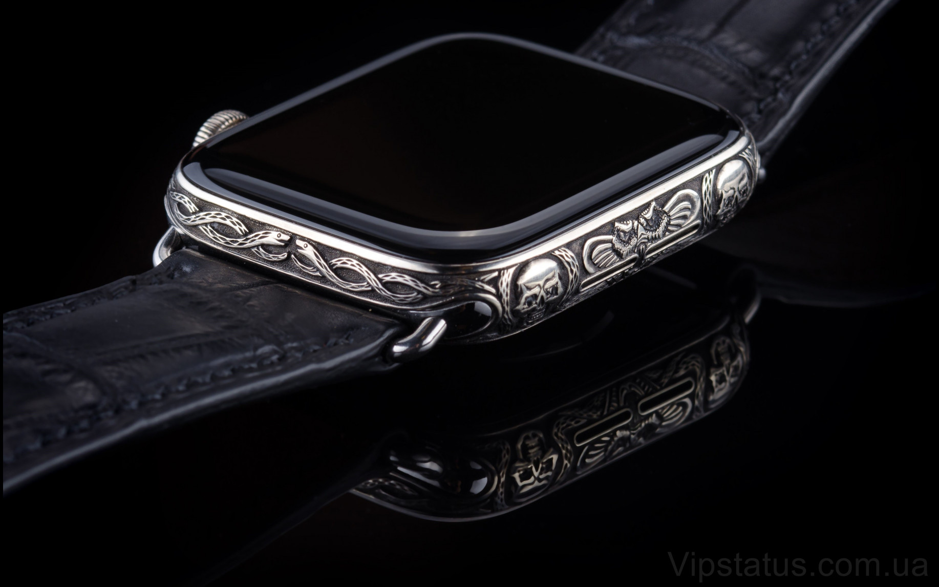 Элитный Skull 666 Platinum Apple Watch 5 Sapphire Skull 666 Platinum Apple Watch 5 Sapphire изображение 3
